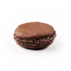 Macaron à l'ancienne, parfum Chocolat, de fabrication artisanale